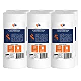 Aquaboon 6-Pack of 5 Micron 10''x4.5'' Sediment Water Filter Whole House Big Blue