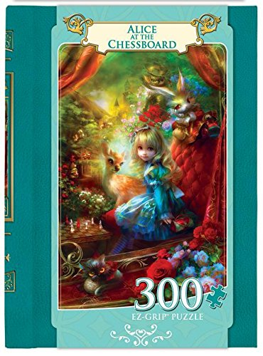 Masterpieces EZ Grip Book Box Alice at the Chessboard Puzzle (300 Piece)