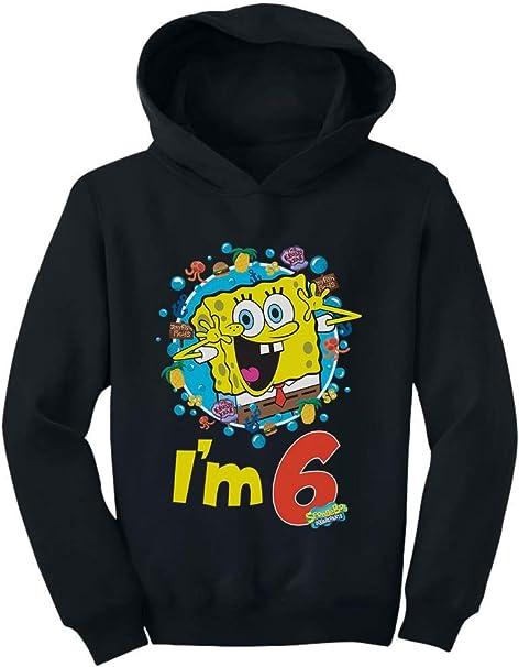 Official Spongebob 6th Birthday Im 6 Toddler//Kids Long Sleeve T-Shirt