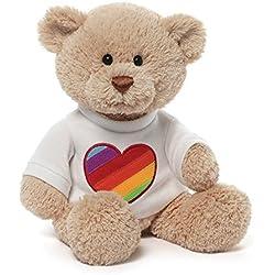 Gund Rainbow Heart T-Shirt Bear
