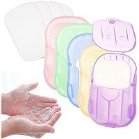 Wanxida 12 x dozen (240 vellen) zeepblaadjes, wegwerp papieren zeep mini draagbare papieren zeep met plastic box voor…