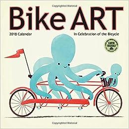 bike art 2018 mini wall calendar in celebration of the bicycle