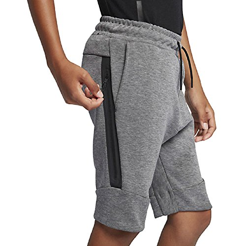 Nike Sportswear Boy's Tech Fleece Shorts (Medium) 816280-093 Carbon Heather Grey by NIKE