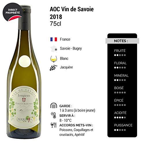 Vin-de-Savoie-JongieuxPerle-dAgrumes-Blanc-2018-Maison-Perret-Vin-AOC-Blanc-de-Savoie-Bugey-Cpage-Jacqure-Lot-de-6x75cl