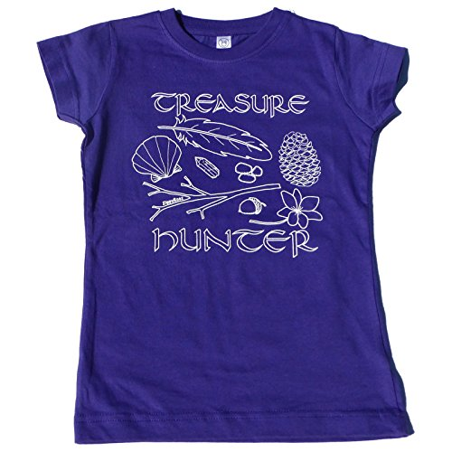 "Price comparison product image ZippyRooz Girls Toddler & Little Kids Hiking Camping Tee Shirt ""Treasure Hunter"" (5/6)"