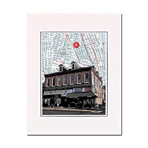 Crown Candy Kitchen, Old North St. Louis, art print. Enhance your home or office. Gallery quality. Matted and ready-to-frame.