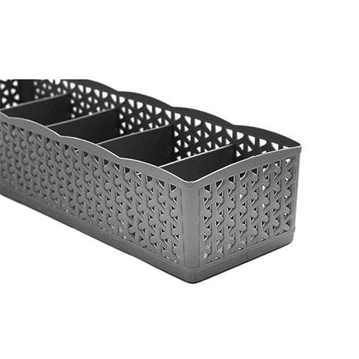 Durable 5 Celdas Organizador de plástico Caja de Almacenamiento ...