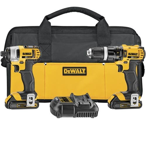 DEWALT-20-Volt-MAX-Li-Ion-Compact-15-Ah-Hammer-Drill-and-Impact-Combo-Kit