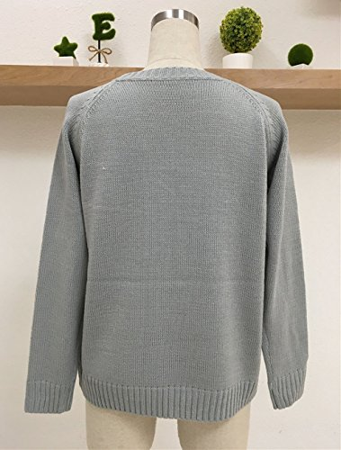Manches Casual Sweater Blouses Amour Rond Tops Automne Hiver Shirts Chemisiers Chandail Gris et Femmes Haut C Tricots ur Fashion Pullover Jumper Modles T Pulls Col Longues xpw6R8Iw