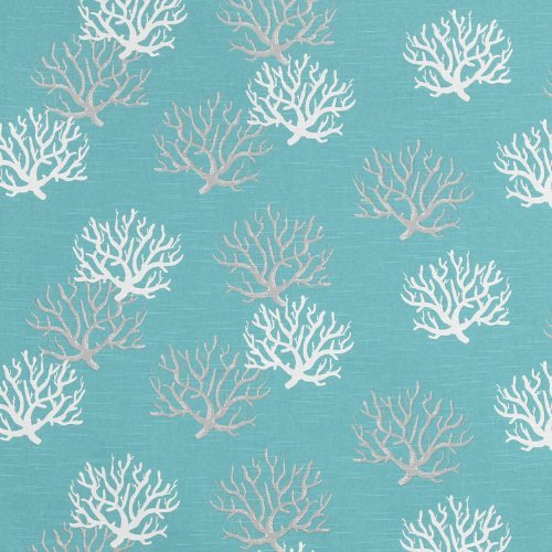 Premier Prints Isadella Coastal Blue Slub Fabric - by the Yard (Coastal Fabrics For Upholstery)