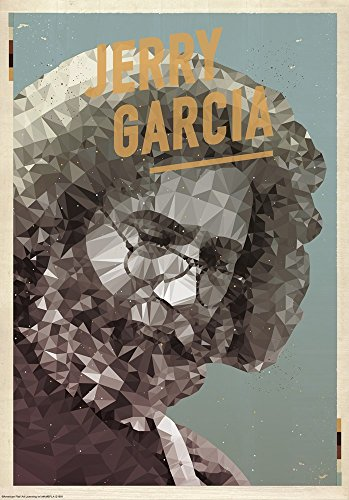 Jerry Garcia by American Flat Art Print, 12 x 18 inches