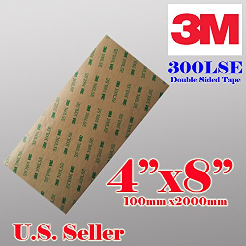 """3M 300lse 4"""" X8"""" Heavty Duty Double Sided Sticky Adhesive..."""