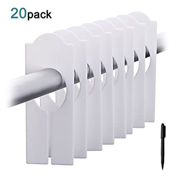 Amazon.com: kingbale 20 unidades en blanco perchero de ropa ...