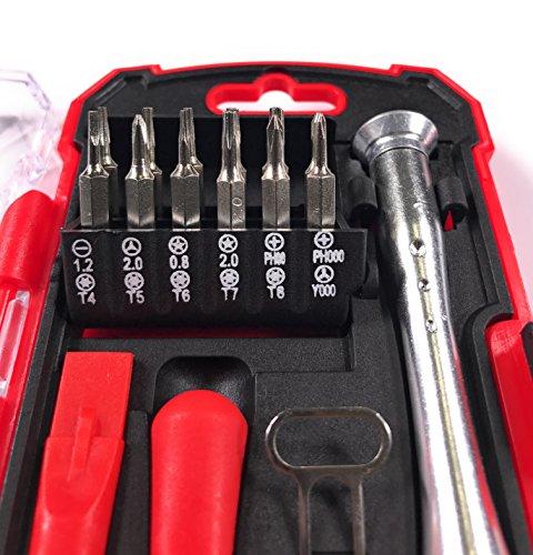 Bonafide Hardware - Smart Phone Repair Tool Kit 17 Piece Set Screw Driver Torx Pentalobe Cell Tools by Bonafide Hardware (Image #3)