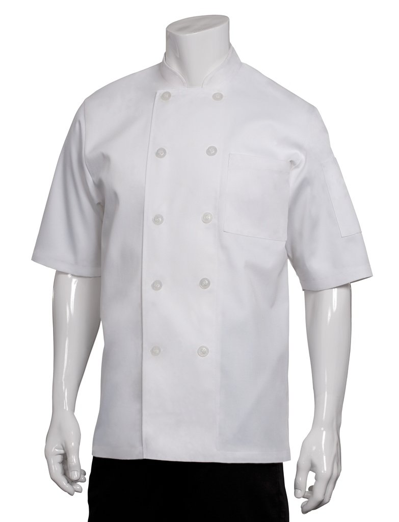 Chef Works Men's Volnay Chef Coat, White, 3X-Large