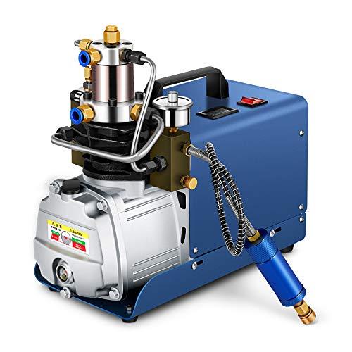 (SHUOGOU High Pressure Electric Air Compressor Pump, Adjustable Auto Shut-Down 30MPA Electric Air Pump PCP 4500PSI 80L/Min for Inflation Bottle PCP Inflator Airgun Scuba Rifle, Car,)