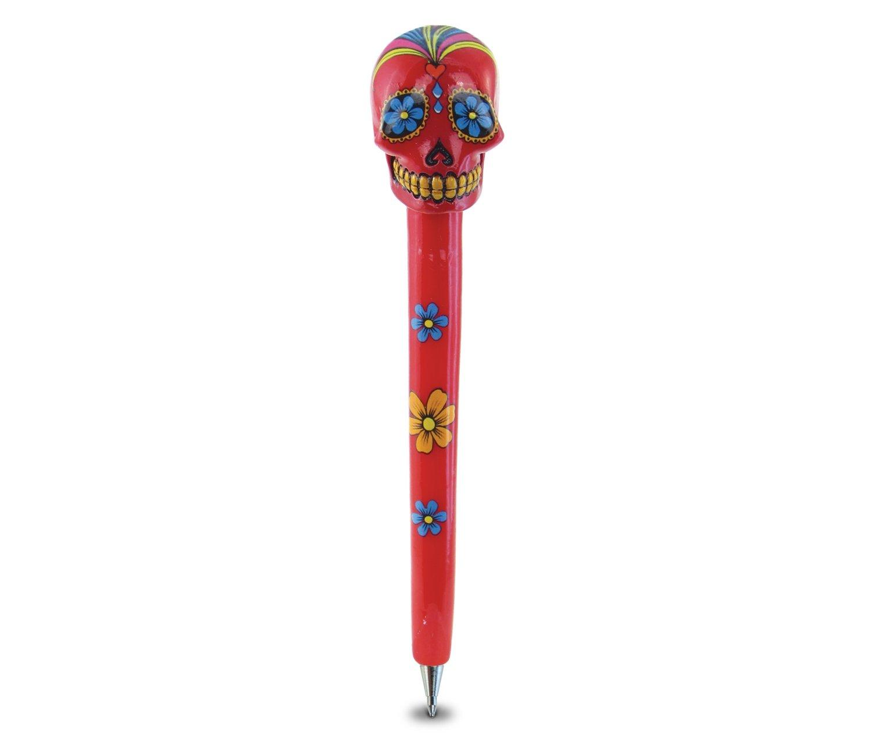WeGlow International WGI Red Candy Skull Planet Pen Virginia Toy 6PEN74