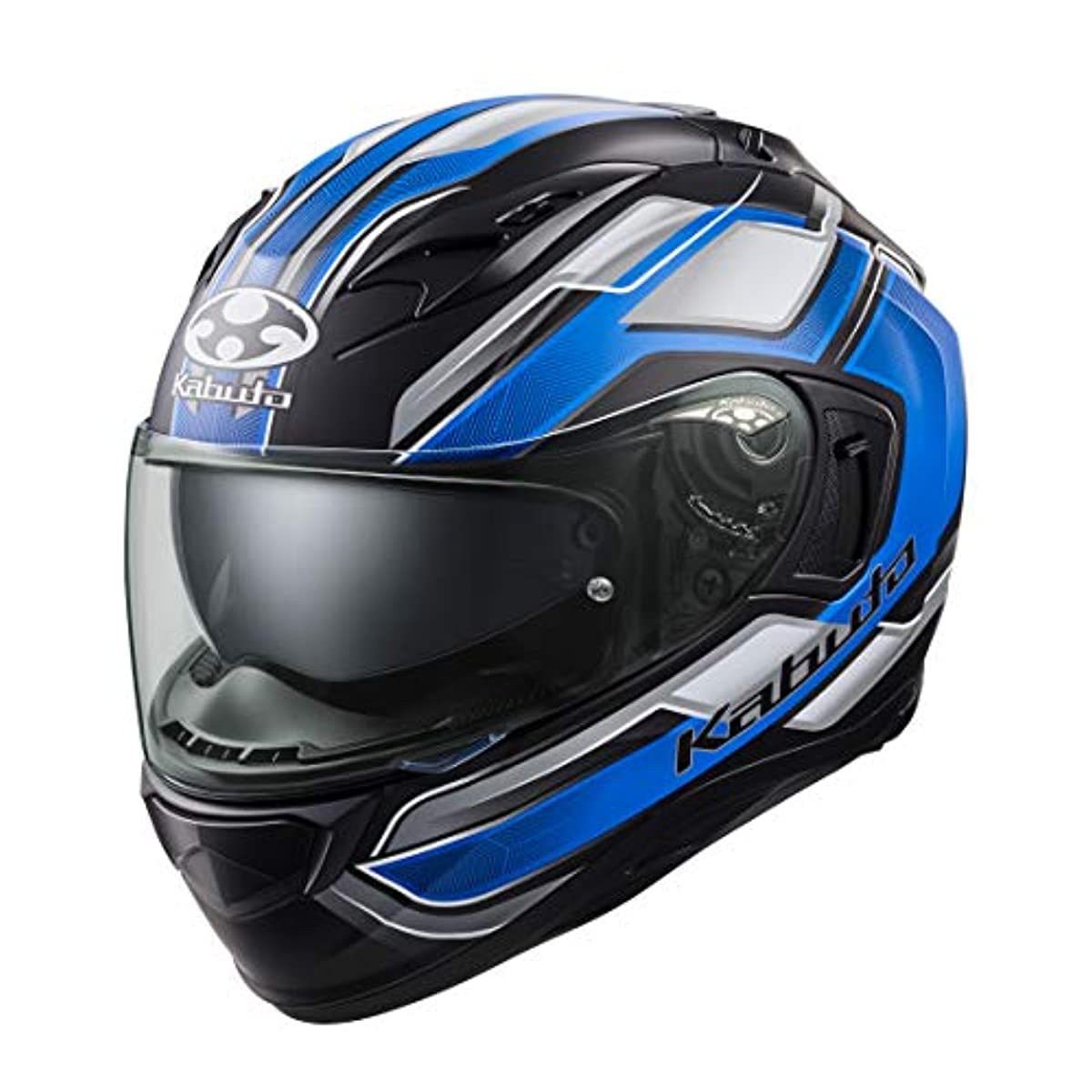 [해외] OG K (카부)카브도(OGK KABUTO)오토바이 헬멧 풀 페이스 KAMUI3 ACCEL(악셀) 플랫 블랙 블루 (사이즈:L) 585891
