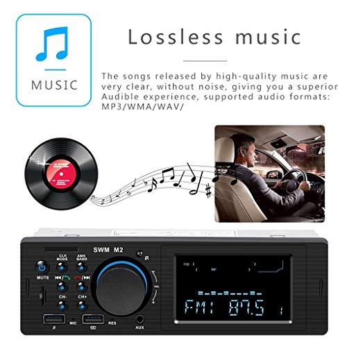 Novania Car Stereo Radio - LCD_VA Screen Build-in Bluetooth MP3/MP5/USB/AM/FM/RDS Radio with Bluetooth Model 4.0 Subwoofer
