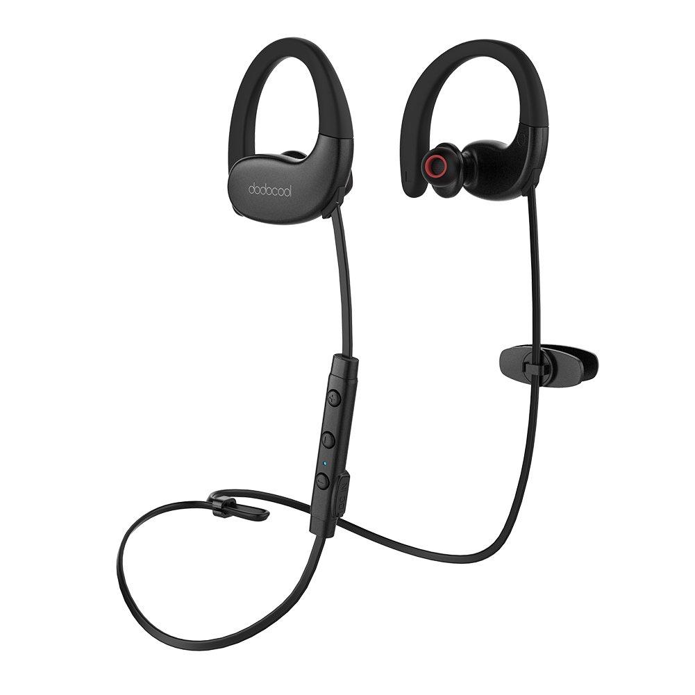 dodocool Bluetooth Headphones, Best Wireless Earbuds IPX5 Waterproof Sports Earphones w/Mic HD Stereo Sweatproof in-Ear Earbuds Gym Running Workout 17 Hour Battery, CVC 6.0 Noise Cancelling Headsets ASO8085071310426HR