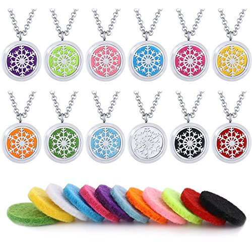 Stainless Snowflake Necklace Aromatherapy Essential product image