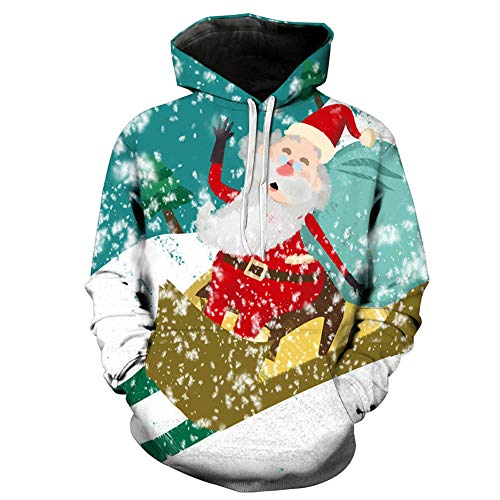BHYDRY Mens Hoodies 3D Christmas Printing Long Sleeve Autumn Winter Sweatershirt Tops Multicolor-c
