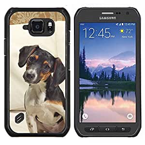 LECELL--Funda protectora / Cubierta / Piel For Samsung Galaxy S6Active Active G890A -- Jack Russell Terrier perro canino Mascota --