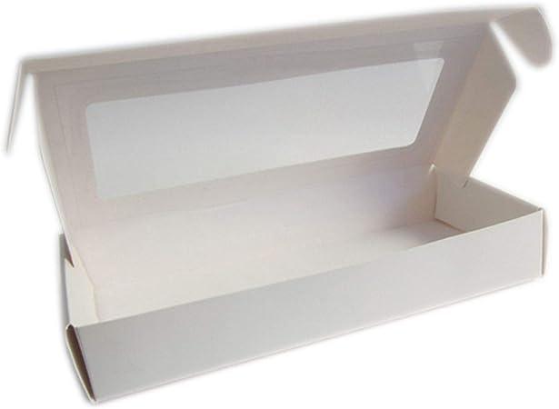 HOME+A - Caja de Regalo Grande de Papel Kraft Negro, Caja de Regalo de Color Blanco, Caja de cartón para Fiestas, Bodas y Embalaje, Synthesis, Blanco, 130x110x35mm: Amazon.es: Hogar