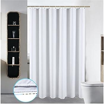 SLattye 40 X 72 Washable Fabric Shower Curtain Liner Wider Than