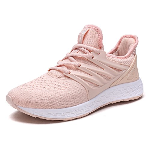 DREAM PAIRS Women's 170330-W Shell Pink Comfortable Soft Lace-up Running Shoes Size 7 M US