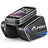 INBIKE Top Tube Bag, Waterproof Bicycle Front Frame Pannier Bag With Touch Screen Phone Case