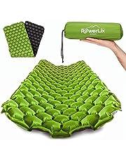 Powerlix - Colchoneta de dormir ultraligera inflable, la mejor almohadilla de autoporción para camping, mochilero, senderismo, airpad, bolsa inflable, bolsa de transporte, kit de reparación, colchón de aire compacto y ligero