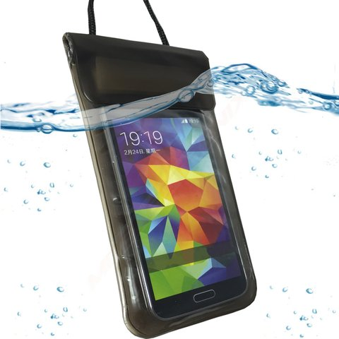 Wasserdicht SCHWARZ Strand Tasche Beach Bag Schutz Hülle Etui Case für Apple iPhone 8 Plus