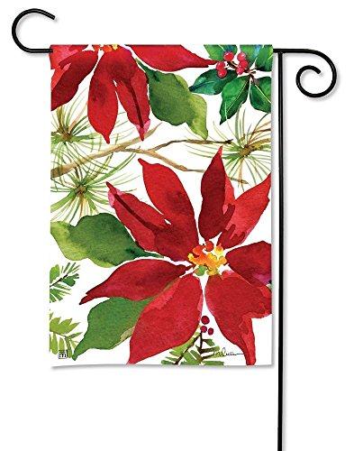 Breeze Art 31777 Pretty Poinsettia Garden Flag - 12.5