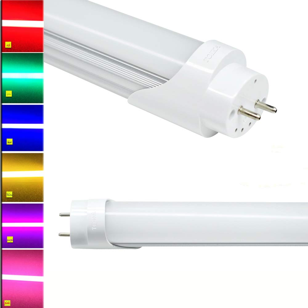 LED Bulb Super Bright Frosted Cover 6 Colors Available 120 cm 4ft 18W T8 LED Tube Lamp Light - 15pcs Power Saving Yellow //Red // Green // Purple // Blue // Pink Longer Life Hours