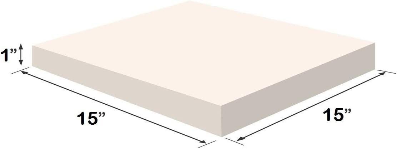 "... Upholstery Visco Memory Foam Square Sheet 3.5 lb High Density 1//2/""x15/""x15/"""