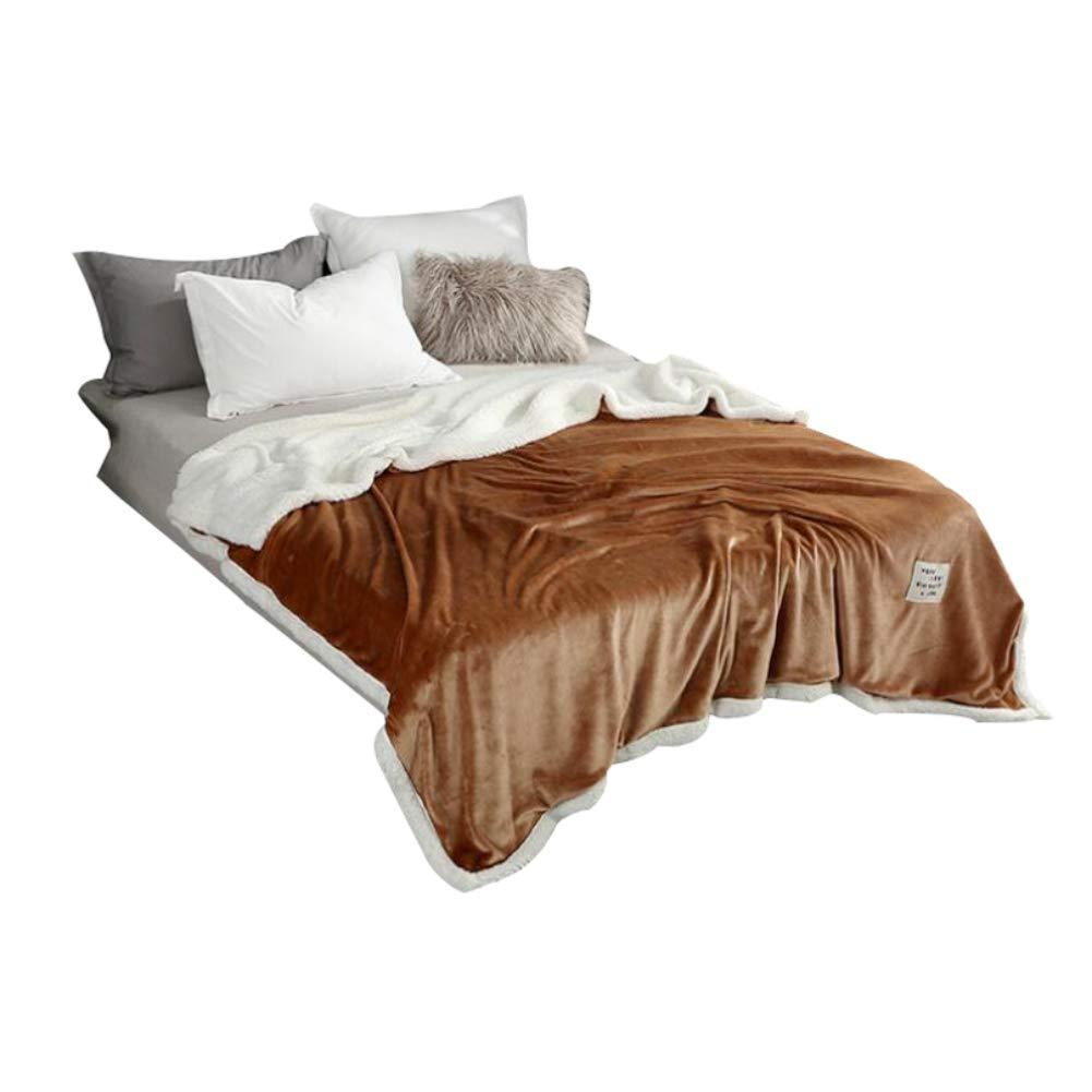 HSBAIS 冬毛布 小さい毛布フル/クイーン/キングサイズ - ソフト暖かい毛布フランネルラムベルベット洗える厚い休日ギフト寝具毛布,yellow_200*230cm B07K78S63P Yellow 200*230cm