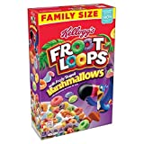 Kellogg's Family Size Froot Loops with Fruity Shape Marshmallows,18.7 ounces