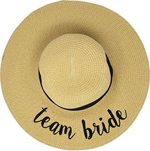H-2017-TB Embroidered Sun Hat - Team Bride