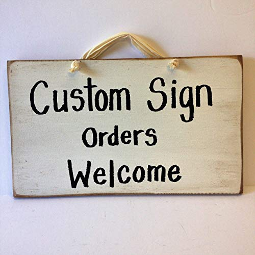 - Custom sign wood personalized