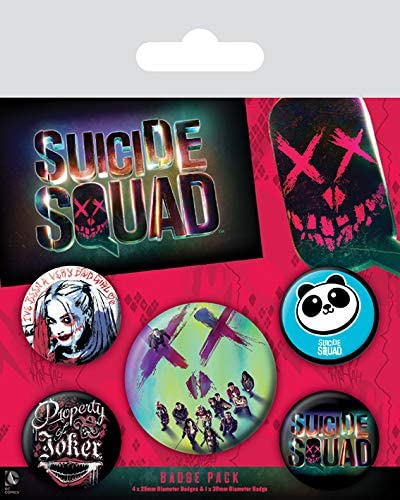Pyramid International Suicide Squad Face Badge 10/x 12.5/x 1.3/cm Multicolore