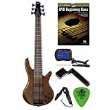 Ibanez GSR206BWNF 6-String Bass Guitar (Walnut Flat Finish) + Free DVD, Pics, Strap, Winder, Tuner