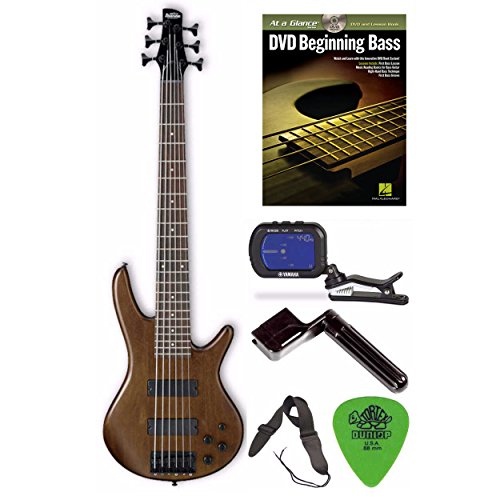 Ibanez GSR206BWNF 6-String Bass Guitar (Walnut Flat Finish) + Free DVD, Pics, Strap, Winder, Tuner by Ibanez