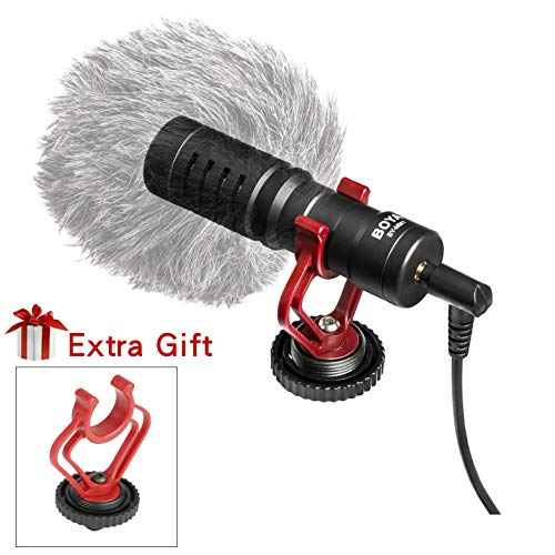 BOYA Compact On Camera Shotgun Video Microphone YouTube Vlogging Facebook Livestream Recording Compatible with Mic iPhone Huawei Smartphone DJI Osmo Mobile Plus,for Canon Nikon Sony DSLR Cameras