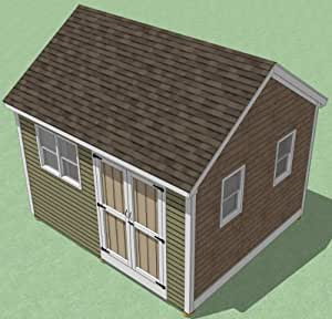12x14 Shed Plans - How To Build Guide - Step By Step