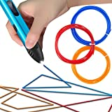 3D Printing Pen, Upgrade Intelligent 3D 3D Doodle Pen, 3D Pen with Low Temperature Safety Holder, 3D Pencil for 3D Arts & Crafts Drawing and Doodling with Free PLA Filament (Blue)