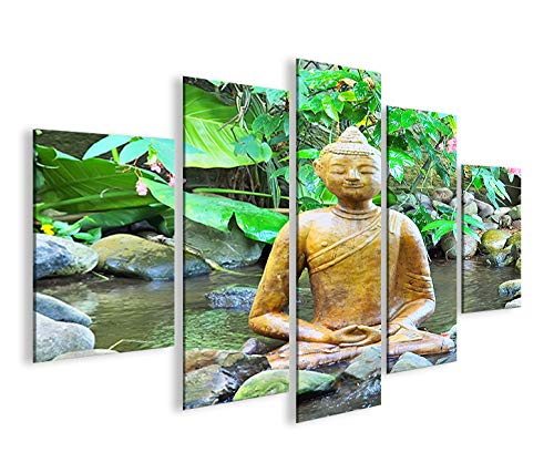 Bild auf Leinwand Buddha V2 MF XXL Poster Leinwandbild Wandbild