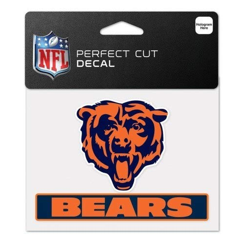 WinCraft NFL Chicago Bears WCR47941014 Perfect Cut Color Decal, 4.5