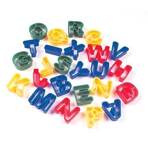 CHENILLE KRAFT COMPANY CAPITAL LETTERS DOUGH CUTTERS (Set of 6)