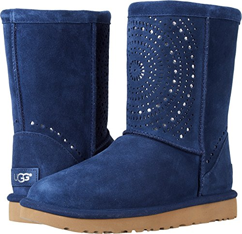 UGG Women's Classic Short Sunshine Perf Navy 7 B US by UGG